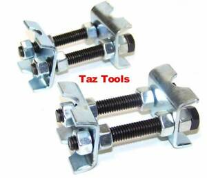 2 Pcs Mini Coil Spring Compressor Adjustable Spring Struts Shocks Adjuster Tool