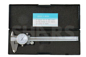 Shock Proof 150 02mm Metric Dial Caliper Stainless 4 Way Inspection Report P