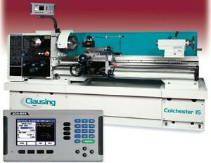 New Clausing Colchester 8043 15x50 Gap Bed Lathe With Acu rite Dro