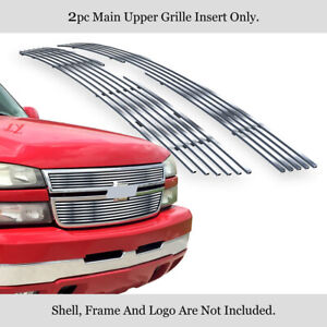 Fits 2006 Chevy Silverado 1500 05 06 2500hd 3500 Main Upper Chrome Billet Grille