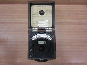 General Electric 3198363 Antique A c Voltmeter Vintage Industrial