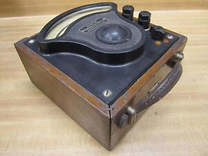 General Electric 3159302 Vintage Industrial Ac Amp Meter W o Lid Antique