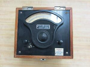 General Electric 3801806 Antique Frequency Meter Vintage Industrial