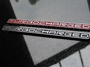 Brushed Metallic Turbocharged Tag Camaro Any Year Choose Color