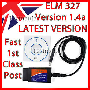 Elm327 Obd2 1 4 Usb Car Diagnostic Code Reader Scanner