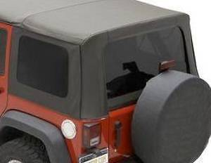 2007 2010 Jeep Wrangler Tinted Soft Top Windows Black 4dr Mopar