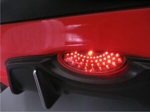Peugeot 206 206cc Black Clear Red Rear Bumper Led Fog Lamp Fog Light