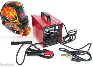 Arc Welder Machine Stick Rod 100amp 110v Flame Auto Darkening Helmet Mask