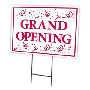 Grand Opening Outdoor Double Sided Sidewalk lawn yard Sign