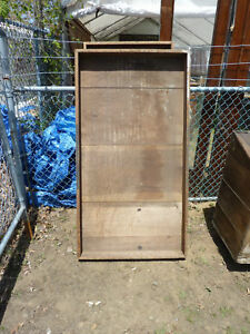 Large Antique Warehouse Factory Box Tray Great Decor