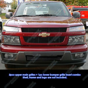 Fits 04 11 2011 Chevy Colorado Black Billet Grille Grill Combo Insert