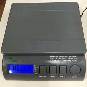 75 Lb X 0 2 Oz Lcd Digital Postal Shipping Scale With Ac Adapter Free Shipping