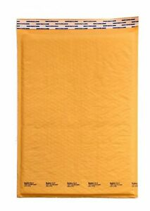50 6 12 5 x19 Kraft Bubble Lined Mailer Envelopes Self Seal Free Shipping