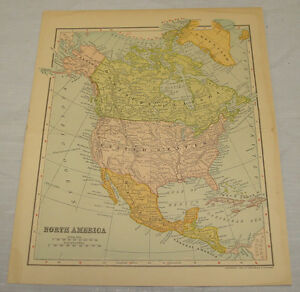 1902 Map Of North America Dodd Mead And Company