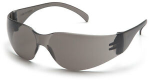 60 Pair 1700 Series Smoke Gray Lens Safety Glasses