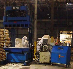 Dake Amesbury 80 Ton C Frame Hydraulic Press 4 X 8 Table 100so