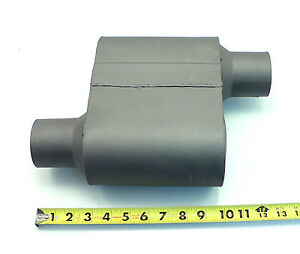 Per 100 Single 1 One Chamber Race Muffler 2 5 Offset Inlet Outlet Aggresive