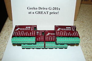 Four Cnc Geckodrive G 201x One Year Warranty Stepper Motor Drivers W extras G201