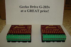 Two Cnc Geckodrive G 203v One Year Factory Warranty Steppr Motor Driver W extras