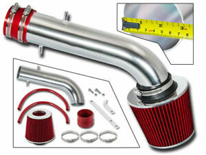 Sport Air Induction Intake Kit Red Filter For 95 02 Honda Accord V6 Lx Ex Ex r