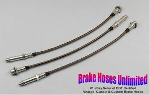 Stainless Brake Hose Set Chevrolet Truck 3100 1 2 Ton 1954 1955 1956