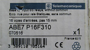 New In The Box Telemecanique Abe7p16f310 Ss Relays Base Free Shipping