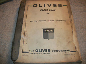 Original Oliver Planter Attachment Parts Manual Sweep Planter Runner Planter
