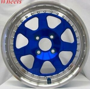 15x7 Rota J Mag 4x100 Wheel Tires Fits Civic Crx Del So Fit Xb Integra
