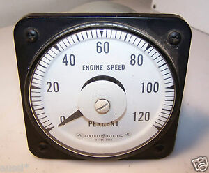 General Electric 50 103111eaea2s Panel Engine Speed Percent Meter Db40