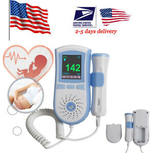 Pocket Fetal Doppler 3mhz Ultrasound Prenatal Baby Sound Heart Rate Monitor