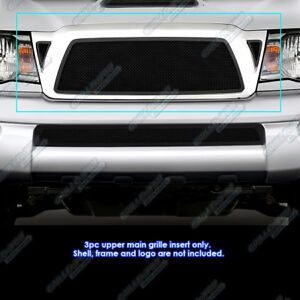 Fits 2005 2010 Toyota Tacoma Black Stainless Steel Mesh Grille Grill Insert