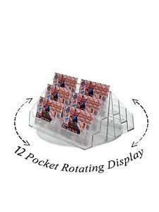 12 Pocket Spinning Business Or Gift Card Holder Counter Top Rack Display Acrylic