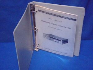 Leader Lsg 215a Signal Generator Instruction Manual