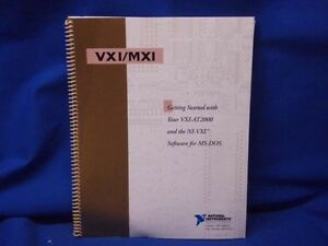 National Instruments Getting Started W vxi at2000 Ni vxi Software Manual