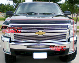 Fits 2007 2010 Chevy Silverado 2500hd 3500hd Billet Grille Combo