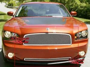 Fits 05 10 Dodge Charger Stainless Mesh Grille Combo Fits 2010 Dodge Charger