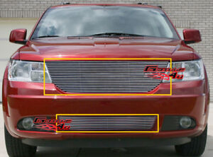 Fits 09 10 Dodge Journey Billet Grille Combo