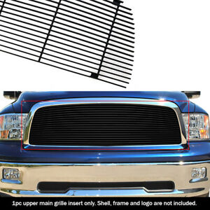 Fits 2009 2012 Dodge Ram 1500 Pickup Black Billet Grille Grill Insert