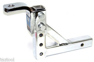 Drop Hitch 10 Adjustable Trailer Drop Hitch Chrome Ball Mount For 2 Receiver
