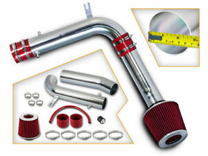 Red Cold Air Induction Intake Kit dry Filter For Honda 95 02 Accord V6 2 7l 3 0l