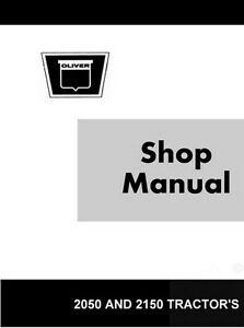 Oliver White Minneapolis Moline 2050 2150 Tractor Shop Service Manual