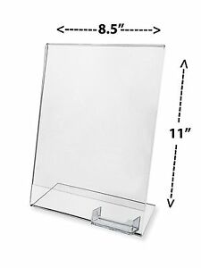 Lot Of 100 Clear Flyer 8 5x11 Sign Display W Business Card Holder