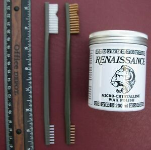 Artifact Coin Cleaning Kit 7 Oz Renaissance Wax And Two Brushes