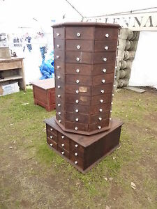C1903 American Bolt Screw Co Dayton Oh Octagonal Hardware Store Cabinet 98dr