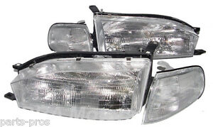 New Replacement Headlights Corner Lamps For 1992 94 Toyota Camry