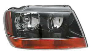 New Replacement Headlight Assembly Rh For 1999 02 Jeep Grand Cherokee Laredo