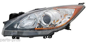 New Replacement Halogen Headlight Assembly Lh For 2010 2011 Mazda 3