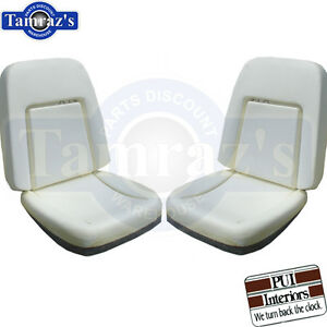 69 Camaro Deluxe Front Bucket Seat Buns Foam Cushion W Backrest Wires Pair
