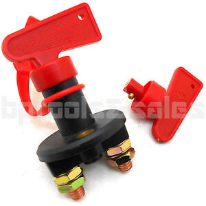 Battery Cut Off Disconnect Kill Switch W Removable Key Power Anti Theft 2 Post