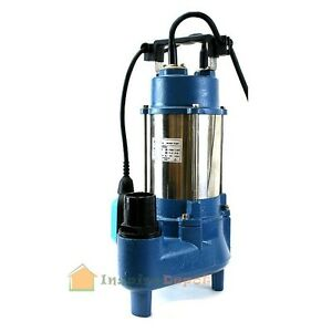 1 6hp Sewage Pump 7100gph 220v Stainless Steel Submersible Sump Water 1 6 Hp